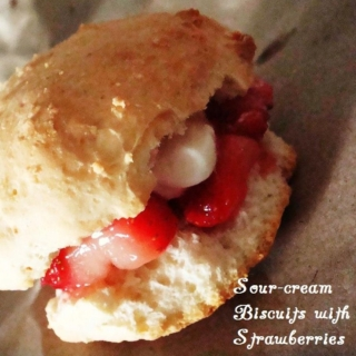Sour-cream Biscuits with Strawberries