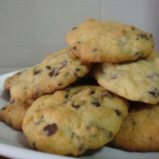 Orange Cookies with Dark Chocolate Chips