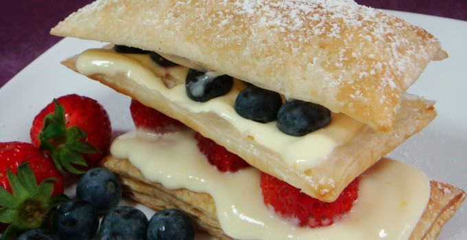 Lemon and Summer Berries Mille Feuille