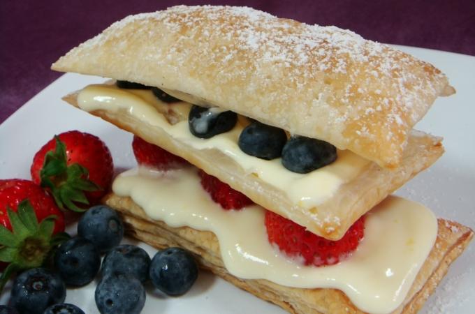 Lemon and Summer Berries Mille Feuille