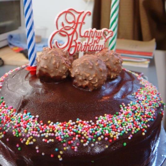Mocha Birthday Cake
