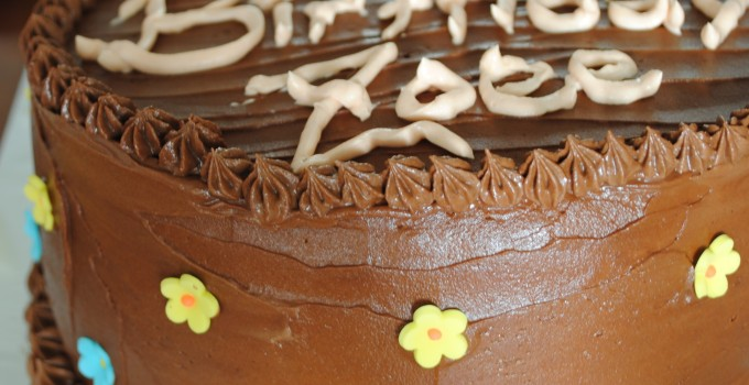 Yellow Cake with Instant Fudge Frosting