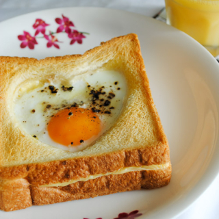 Baked Egg and Cheese Toast