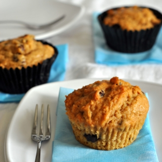 Coffee, Chocolate and Raisins Muffins
