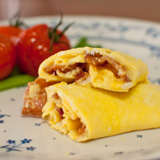 Donna Hay's Bacon Omelette with Roasted Tomatoes