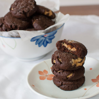 Chocolate Peanut Butter Surprise Cookies