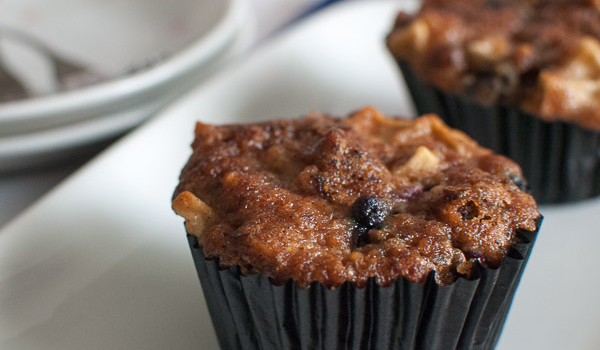 The Home Bakers #12: Apple-Walnut-Blueberry Mosaic Muffins