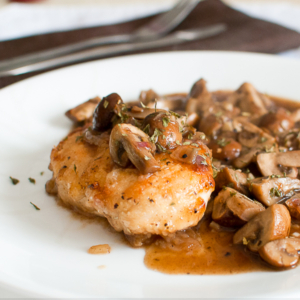 Pan-Fried Chicken with Mushrooms