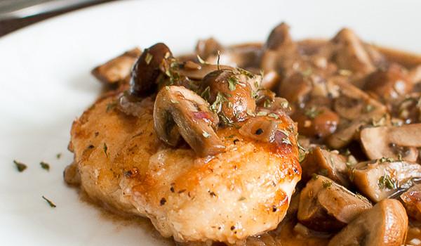 Pan-Fried Chicken with Mushrooms (Martha Stewart)