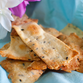 Sesame Seeded Crackers