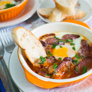 Tuscan Baked Eggs