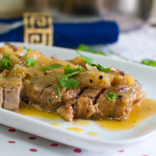 Pork Roast with Orange-Mango and Onion