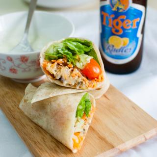 Baked Falafel (Chickpea Patties) with Tzatziki Sauce + Tiger Radler Review