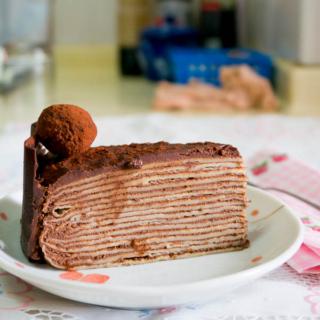 Chocolate Kahlua Crêpe Cake