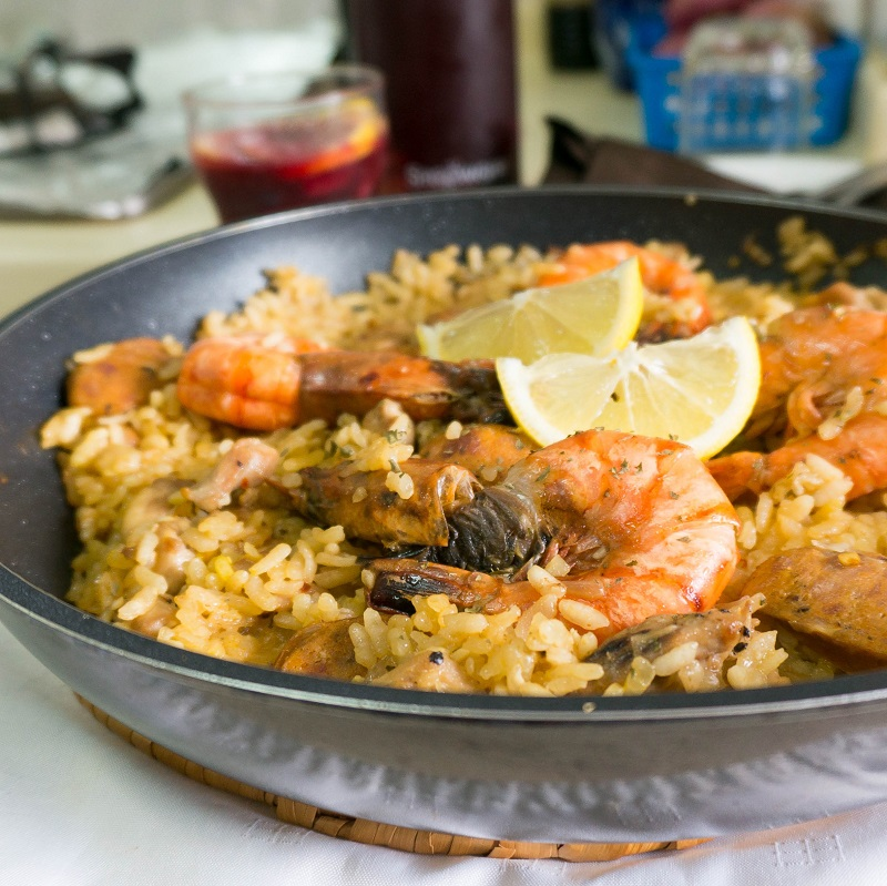 Chicken Chorizo And Prawn Paella Gordon Ramsay