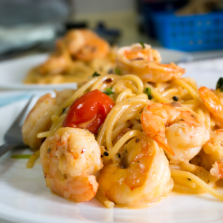 Lemon Cream Prawn Pasta
