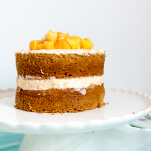 Peach Cake with Peach Buttercream