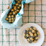 Blakc & White Chequered Sesame Cookies