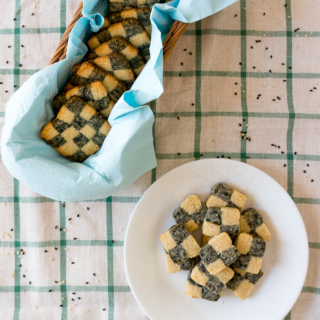 Black & White Sesame Chequered Cookies