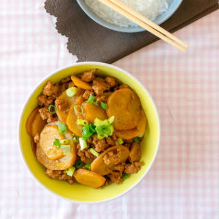 Chinese Potato and Minced Pork Stew
