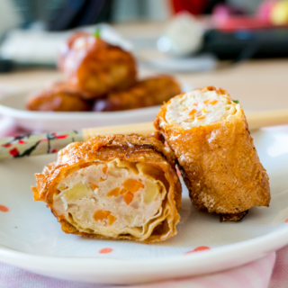 Beancurd Skin Roll with Turkey, Apple and Carrot