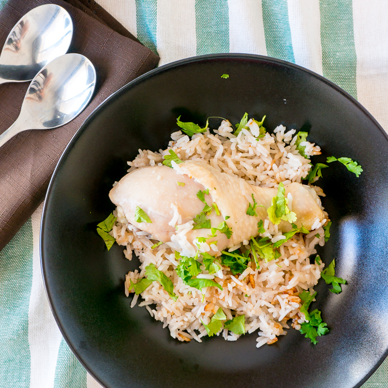 One Pot Easy Rice Cooker Hainanese Chicken Rice