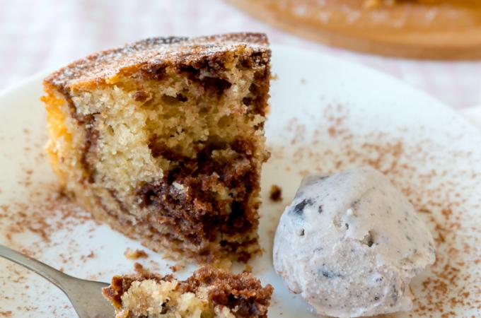 No-Mixer Chocolate Marble Yogurt Cake