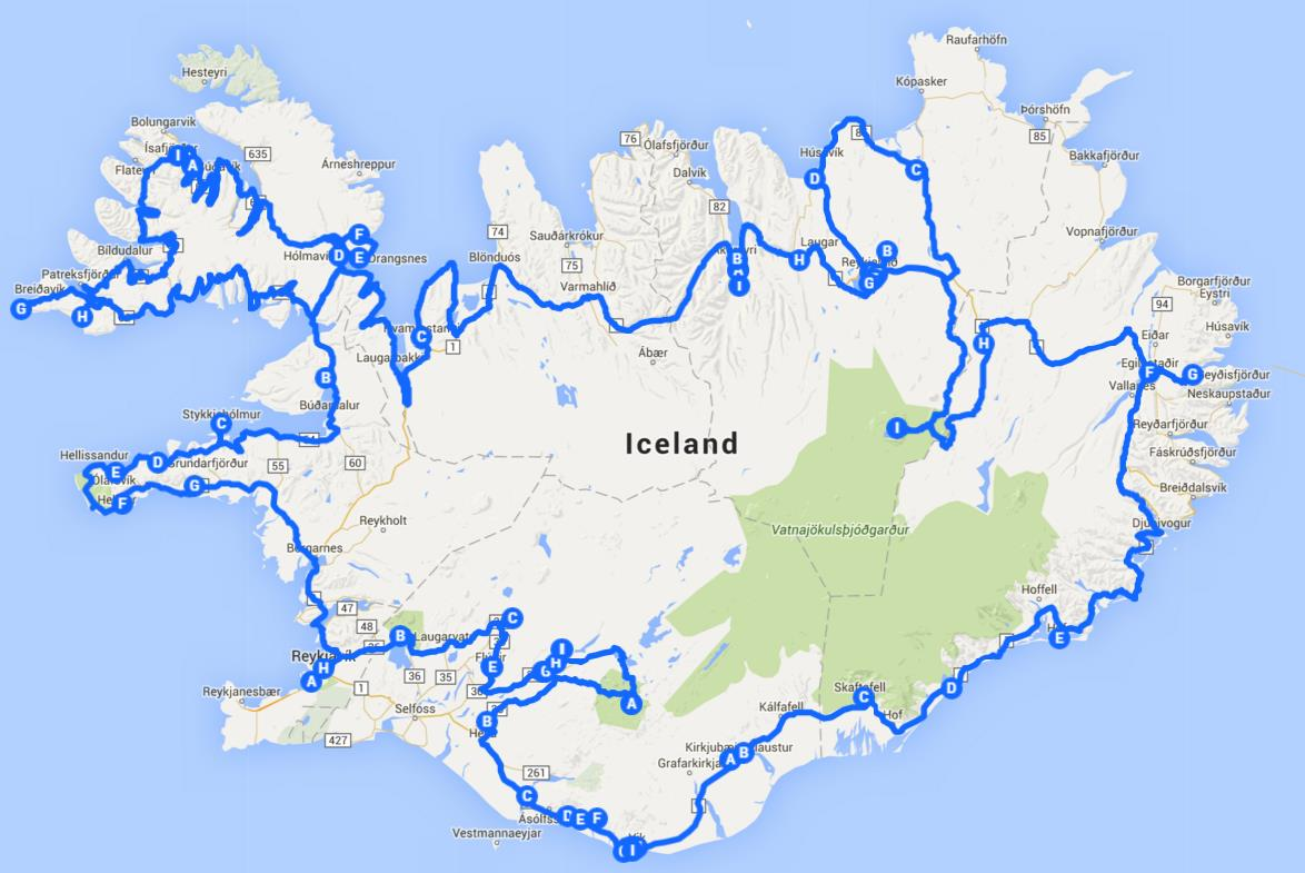 Iceland map whole