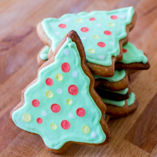 Christmas Tree Cookies - featured