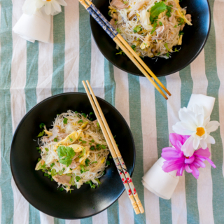 One-Pan Fried White Bee Hoon (Rice Vermicelli)