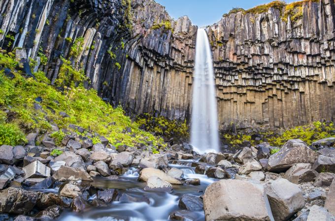 Day 7/22 Iceland: Fjaðrárgljúfur, Foss á Síðu, Skeiðará Bridge Monument, Kirkjugólf,Skaftafell &Svartifoss