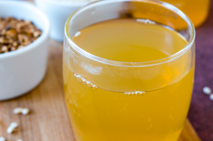 Roasted Barley Tea [Mugicha (麦茶) / Boricha (보리차)] & Simpe Barley Salad