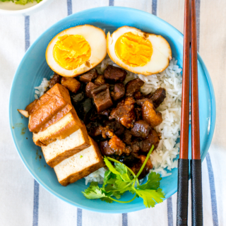 Taiwanese Braised Pork with Rice [Lu Rou Fan / 滷肉饭]
