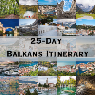 Balkans Itinerary (And Expenditure!) – 25 Days in Bosnia and Herzegovina, Croatia, Montenegro, Slovenia and Serbia