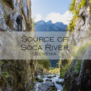Source of Soča River, Slovenia
